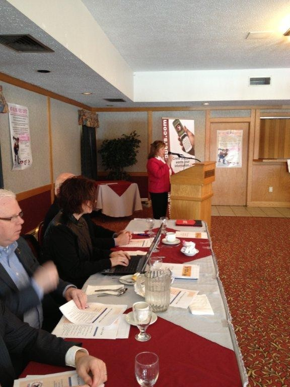 Hon. Janice Sherry speaking to AGM  delegates