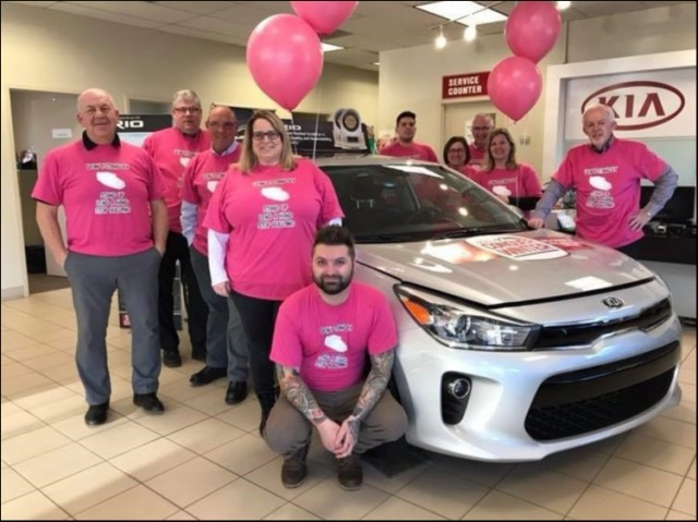 And Discover Kia in Charlottetown wish to out-do their sister dealerships at Hyundai and Subaru with a secret weapon on Pink Shirt Day