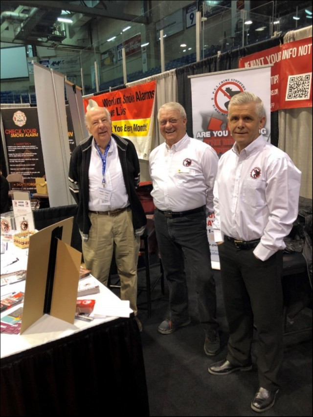 (L-R)  Board Members Norbert Stewart, Don Reid and John McAleer manning the Crime Stoppers booth at the PEI On the Move Show Sunday the 10th of March 2019