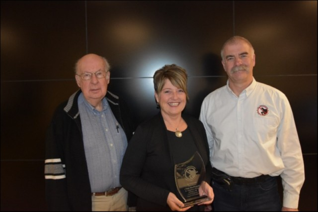 Cindy MacDougall retires from the Board of Directors for PEI Crime Stoppers after 3yrs service to the organization. Cindy was presented with a Service Award for her service to PEI Crime Stoppers. During Cindy