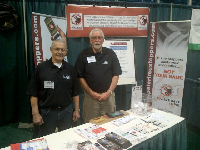 Board Directors Eric Oulton and Wayne Lilly at our booth .