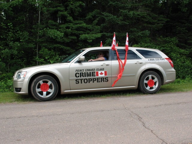 Crime Stoppers vehicle decked out for the Parade