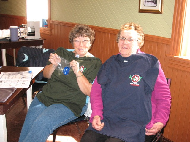 Heather MacPherson, Jean Clow of Murray Harbor North, T-shirt winners