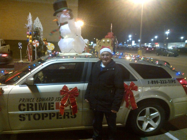Summerside Director Eric Oulton and our car decked out and ready for the parade to start!